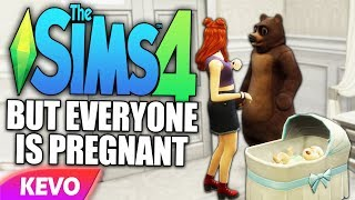 The Sims 4 but everyone is pregnant