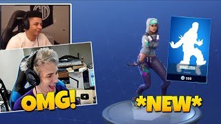 NINJA AND STREAMERS REACT TO *NEW* BONELESS EMOTE!! Fortnite Funny and EPIC Moments #15