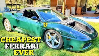 Here's How Much it Cost to Buy and Rebuild a Cheap Salvage Ferrari