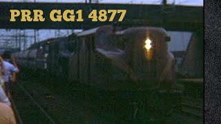 Pennsylvania Railroad GG1 Electric Locomotive 4877 at Lancaster Station - Firebox Vault 17