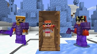 Minecraft MANHUNT but DOORS randomly teleport you