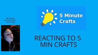 Reacting to 5 min Crafts