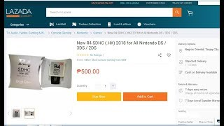Nintendo DS R4 SDHC | From Lazada