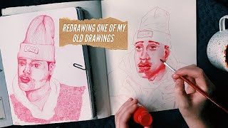 redrawing one of my old drawings! (tyler, the creator)