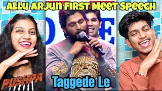 Icon ⭐ Allu Arjun Speech | The First Meet | Pushpa | Allu Arjun | Macha Reaction
