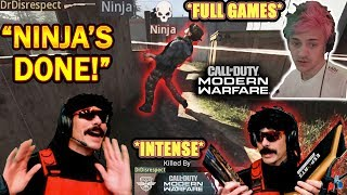 DrDisrespect's FULL 2V2 GAMES VS NINJA in COD Modern Warfare Tournament! (INTENSE!)