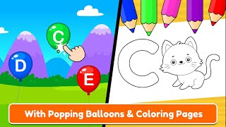 ABC coloring pages |ABC Tracing & Phonics for Preschoolers & Kids Game | Nursery Rhymes & Kids Songs