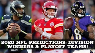 Predicting 2020 NFL Division Winners & Playoff Teams!