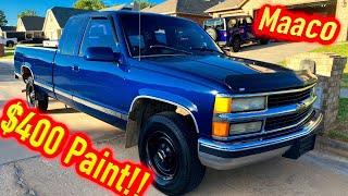 Cheap Copart $1050 Theft Recovery 1996 GMC C2500 gets a $400 Maaco Paint Job!!