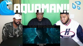 AQUAMAN OFFICIAL TRAILER 1 - REACTION!!!