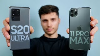 Samsung Galaxy S20 Ultra vs iPhone 11 Pro Max!
