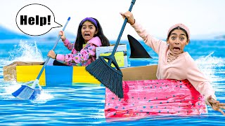 CARDBOARD BOX BOAT RACE WINNER GETS $5000 (Sister vs Sister)