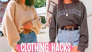 15 Clothing Hacks Everyone NEEDS To Try | Fashion Tricks Every Girl Must Know!!