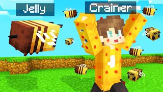 STINGING People As A BEE In MINECRAFT! (Funny)