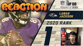 #1: Lamar Jackson (QB, Ravens) | Top 100 NFL Players of 2020 (VietnameseReact)