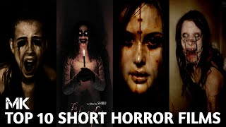 Top 10 Best || Short Horror Movies || On YouTube 😱😱😱