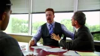 Sheamus attends a deposition with David Otunga and Ricardo Rodriguez: Raw, Sept. 10, 2012