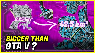 Cyberpunk 2077 Map SIZE Comparison it is MUCH bigger than Witcher 3