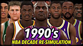I Reset The NBA To 1990 And Re-Simulated THE WHOLE DECADE. | 1990's Decade Re-Simulation