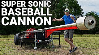 Building The SUPERSONIC BASEBALL Cannon - Behind the Scenes - Smarter Every Day