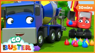 Water Balloon Fight!! | Go Buster | Baby Cartoons | Kids Videos | ABCs and 123s