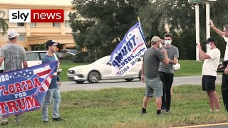 US Election: Rival Trump and Biden supporters clash at Florida rally