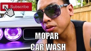 Dodge Challenger Car wash & Oracle headlights review with Mopar bro @fred eazy21