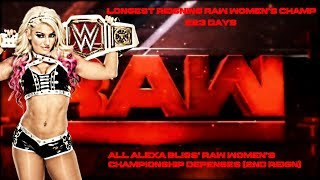All Alexa Bliss' Raw Women's Championship Defenses (2ND REIGN)