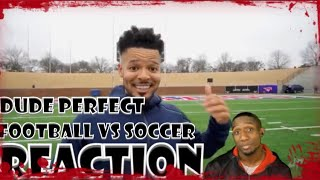 Dude Perfect Trick Shots Football vs Soccer | Reaction