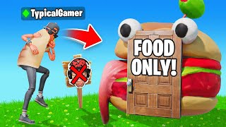 I Went UNDERCOVER in a FOOD ONLY Tournament! (Fortnite)