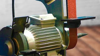 How to Make a Grinding machine and a belt grinder from an old motor.