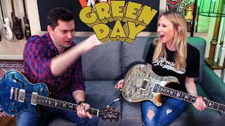Teaching my wife the easiest (and best) Green Day riff