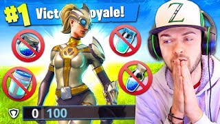 WINNING using *NO SHIELDS* in Fortnite: Battle Royale! (HARD)