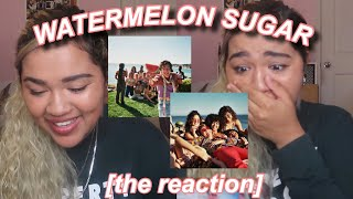 "harry styles ""watermelon sugar"" music video reaction"