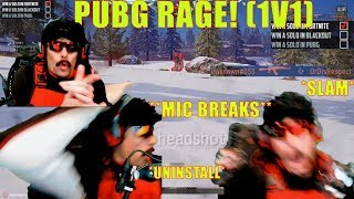 DrDisrespect RAGE SLAMS Desk & Uninstalls PUBG *BREAKS MIC*