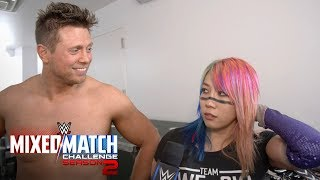 Asuka unleashes an angry chop on The Miz following their MMC victory