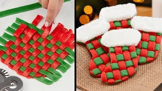 We Made WOVEN Stocking Cookies w/ Rebecca Zamolo!