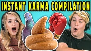 ADULTS REACT TO INSTANT KARMA COMPILATION #2