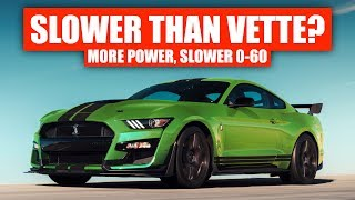 Why The 2020 Corvette Is Faster Than Ford's GT500 (To 60 MPH)
