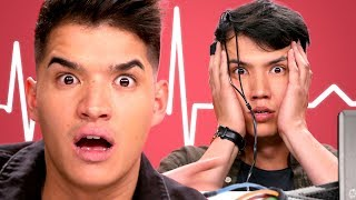 Alex Wassabi takes a Lie Detector Test with LazyRon!! | Detected