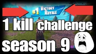 fortnite 1 kill challenge season 9