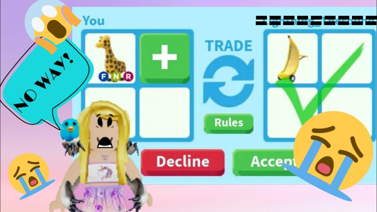 We Tried The ONE COLOR TRADING CHALLENGE in Roblox Adopt ...