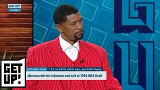 Jalen Rose dons iconic NBA draft suit | Get Up! | ESPN