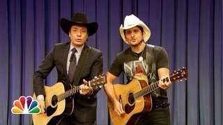 "Jimmy Fallon & Brad Paisley Sing ""Balls In Your Mouth"" (Late Night with Jimmy Fallon)"