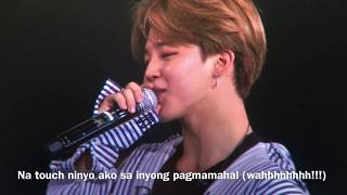 BTS Speaking Tagalog Day1 WingsTour Philippines
