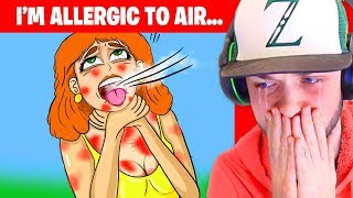 I'm ALLERGIC TO AIR and THIS is how I survive... (True Story Animation)