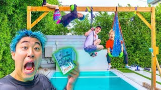 LAST TO FALL IN POOL WINS $10,000 DOLLARS!! **gone wrong**