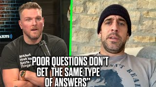 "Aaron Rodgers Tells Pat McAfee About His ""Bad Mood"" With Reporters On Zoom"