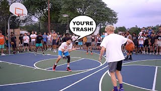 Trash Talker CLAPS In My Face Then Gets EXPOSED! 5v5 Basketball At The Park!