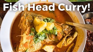Fish Head Curry in Singapore - Giant Fish Head, Amazing Singaporean Food!